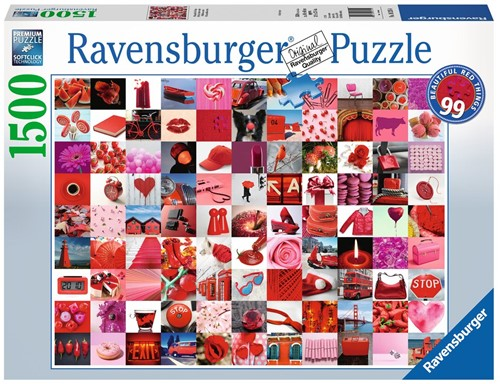 99 Beautiful Red Things Puzzel (1500 stukjes)