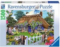 Cottage in England Puzzel (1500 stukjes)-1
