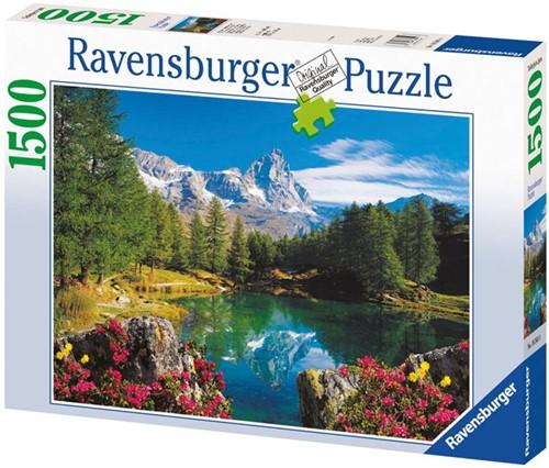 Bergmeer bij Matterhorn Puzzel (1500 stukjes)-1