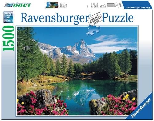Bergmeer bij Matterhorn Puzzel (1500 stukjes)