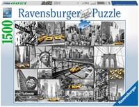 Kleuraccenten In New York Puzzel (1500 stukjes)-1