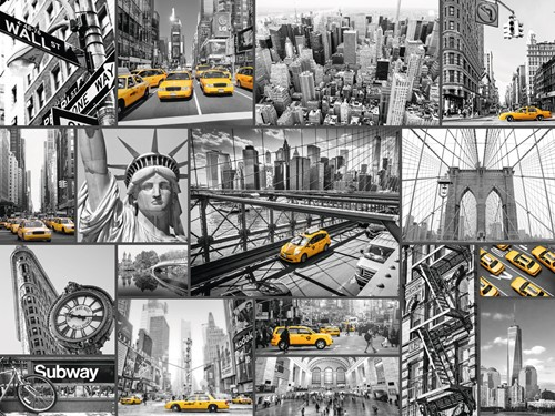 Kleuraccenten In New York Puzzel (1500 stukjes)