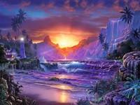 Zonsopgang in het Paradijs - Lassen Puzzel (1500 stukjes)-2