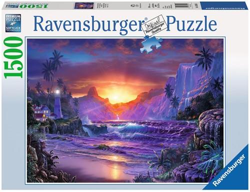 Zonsopgang in het Paradijs - Lassen Puzzel (1500 stukjes)-1