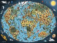 Bontgekleurde Aarde Puzzel (1500 stukjes)-2