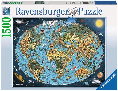 Bontgekleurde Aarde Puzzel (1500 stukjes)