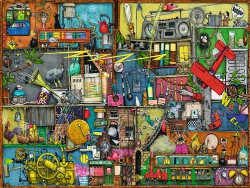 Rommelige Kast - Colin Thompson Puzzel (1500 stukjes)