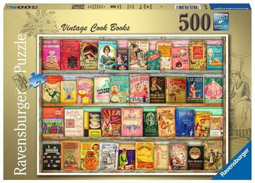 Vintage Kookboeken Puzzel (500 stukjes)