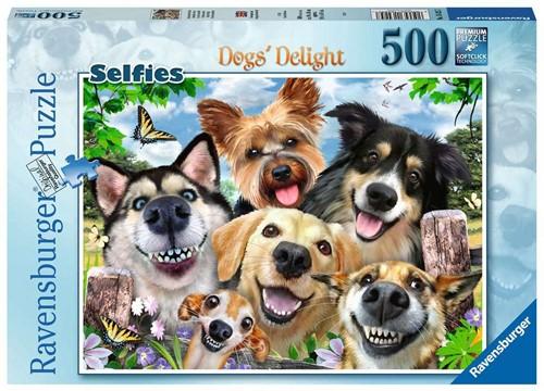 Vrolijke Honden Puzzel (500 stukjes)
