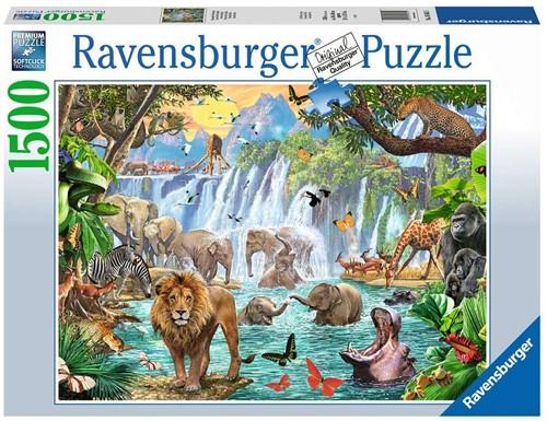 Waterval in de Jungle Puzzel (1500 stukjes)