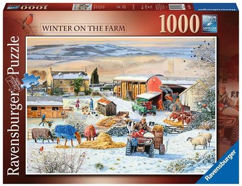 Boerderij in de winter Puzzel (1000 stukjes)