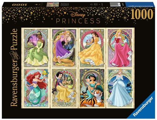 Art Nouveau Prinsessen Puzzel (1000 stukjes)