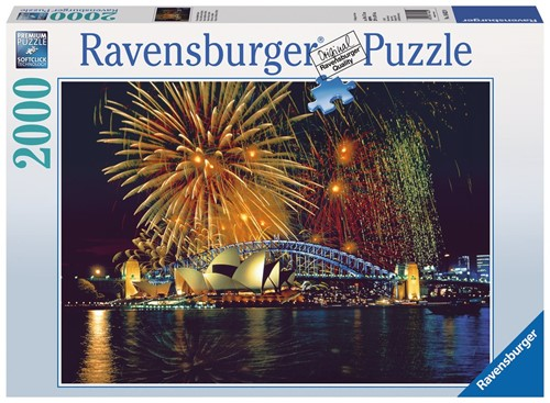 Vuurwerk boven Sydney Puzzel (2000 stukjes)