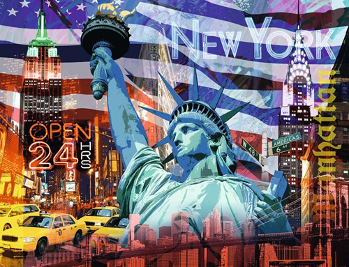 New York Collage Puzzel (2000 stukjes) (Doos beschadigd)-2