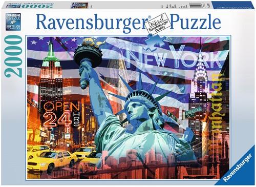 New York Collage Puzzel (2000 stukjes) (Doos beschadigd)
