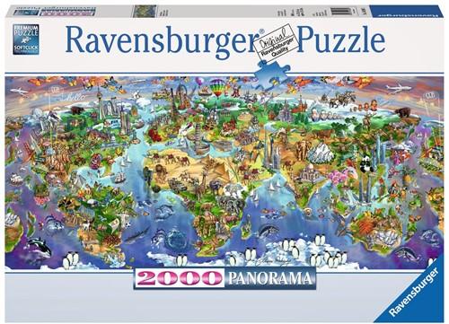 World Wonders Puzzel (2000 stukjes)