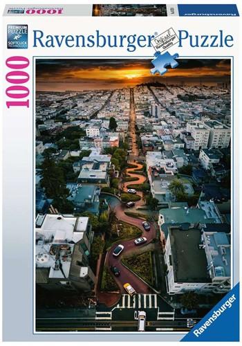 Lombard Street, San Francisco Puzzel (1000 stukjes)