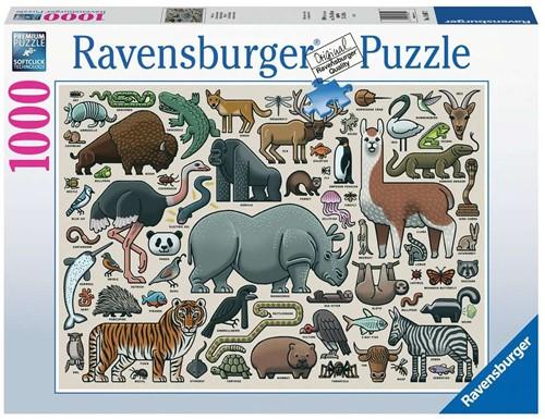 Wilde Dieren Puzzel (1000 stukjes)