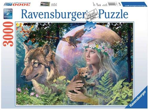 Wolven in de Maneschijn Puzzel (3000 stukjes)