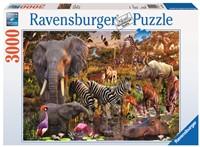 Afrikaanse Dierenwereld Puzzel (3000 stukjes)-1