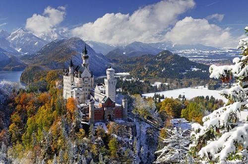 Slot Neuschwanstein in Winter Puzzel (3000 stukjes)-2