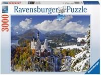 Slot Neuschwanstein in Winter Puzzel (3000 stukjes)