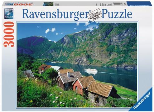 Sognefjord, Noorwegen Puzzel