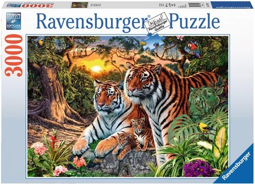Verstopte Tijgers Puzzel (3000 stukjes)-1