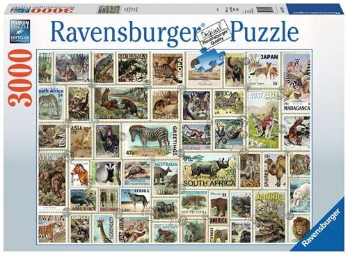Dierenpostzegels Puzzel (3000 stukjes)