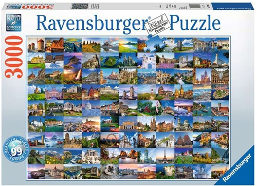 99 Mooie Plekken In Europa Puzzel (3000 stukjes)