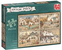 Anton Pieck - 4 Seizoenen Puzzel (1000 stukjes)-1