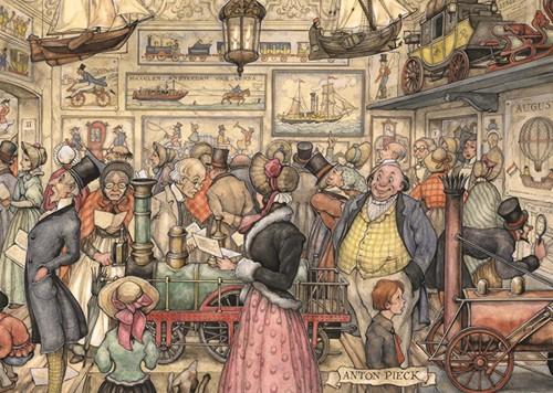 Anton Pieck - De Tentoonstelling Puzzel (1000 stukjes)-2