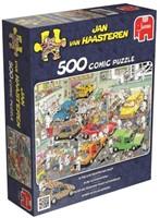 Jan van Haasteren - In de Autospuiterij Puzzel (500 stukjes)