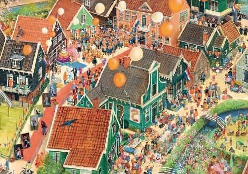 Charlotte Dematons - Koningsdag Puzzel (1000 stukjes)-2