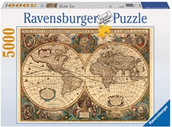 Antieke Wereldkaart Puzzel (5000 stukjes)