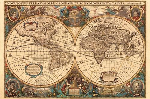 Antieke Wereldkaart Puzzel (5000 stukjes)-2