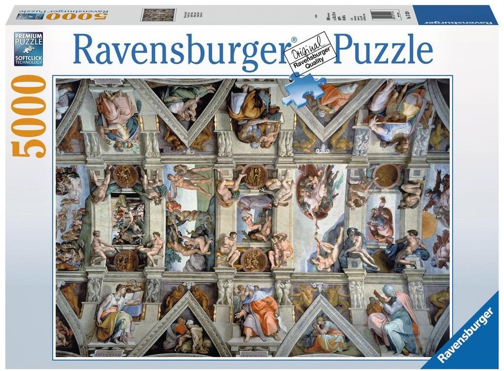 De Sixtijnse Kapel Puzzel 5000 Stukjes Kopen Bij Spellenrijknl