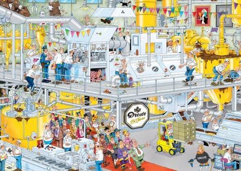 Jan van Haasteren - De Chocolade fabriek Puzzel (1000 stukjes)-2