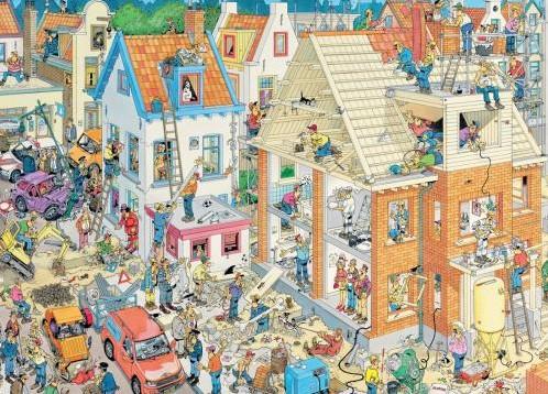 Jan van Haasteren - De Bouwplaats Puzzel (1500 stukjes)-2