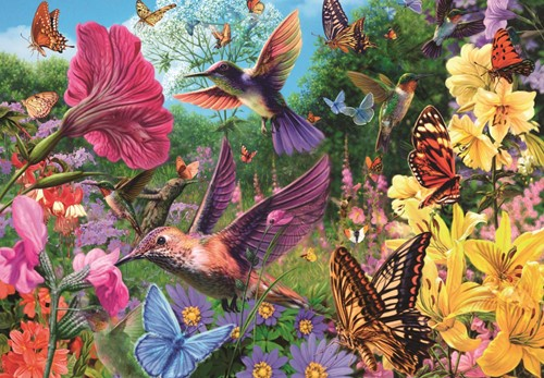 Een Tuin Vol Kolibri's Puzzel (1500 stukjes)-2