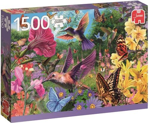 Een Tuin Vol Kolibri's Puzzel (1500 stukjes)-1