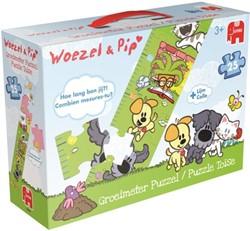 Woezel & Pip - Groeimeter Puzzel (25 stukjes)
