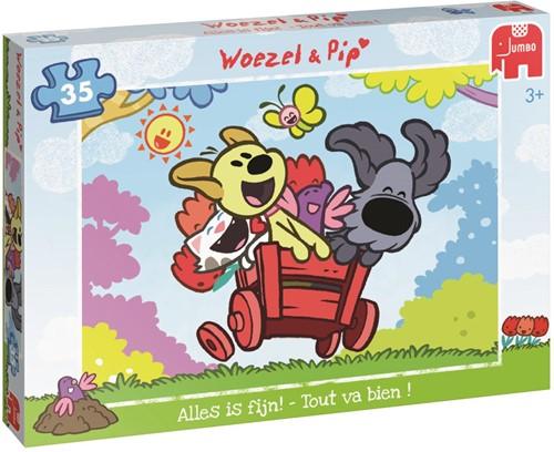 Woezel & Pip - Alles is fijn! Puzzel (35 stukjes)-1