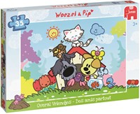 Woezel & Pip - Overal Vriendjes Puzzel (35 stukjes)-1