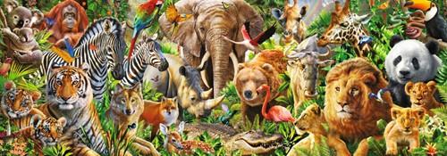 African Wildlife - Panorama Puzzel (1000 stukjes)-2