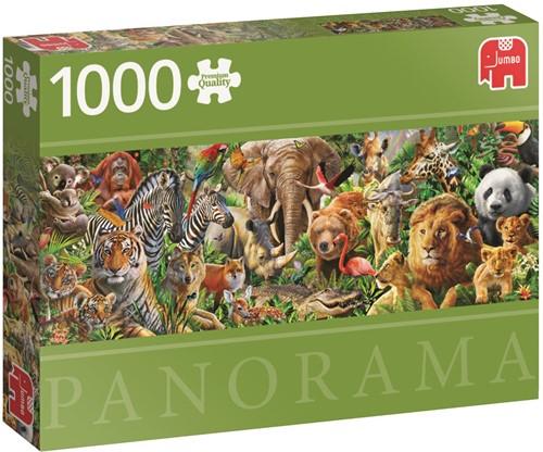 African Wildlife - Panorama Puzzel (1000 stukjes)-1