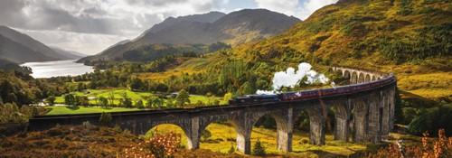 Glenfinnan Spoorweg Schotland - Panorama Puzzel (1000 stukjes)-2