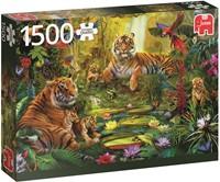 Tijgers In De Jungle Puzzel (1500 stukjes)-1