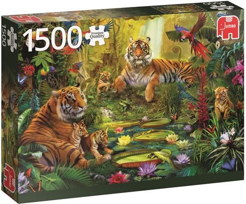 Tijgers In De Jungle Puzzel (1500 stukjes)