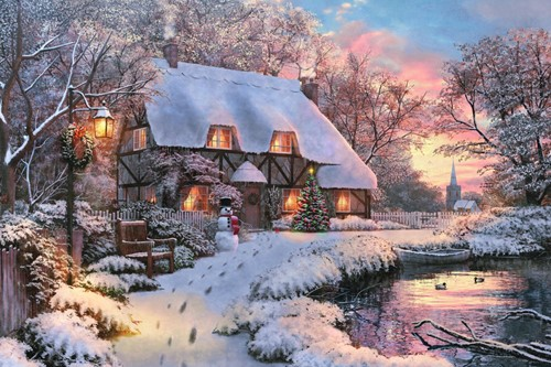Winter Cottage Puzzel (1500 stukjes)
